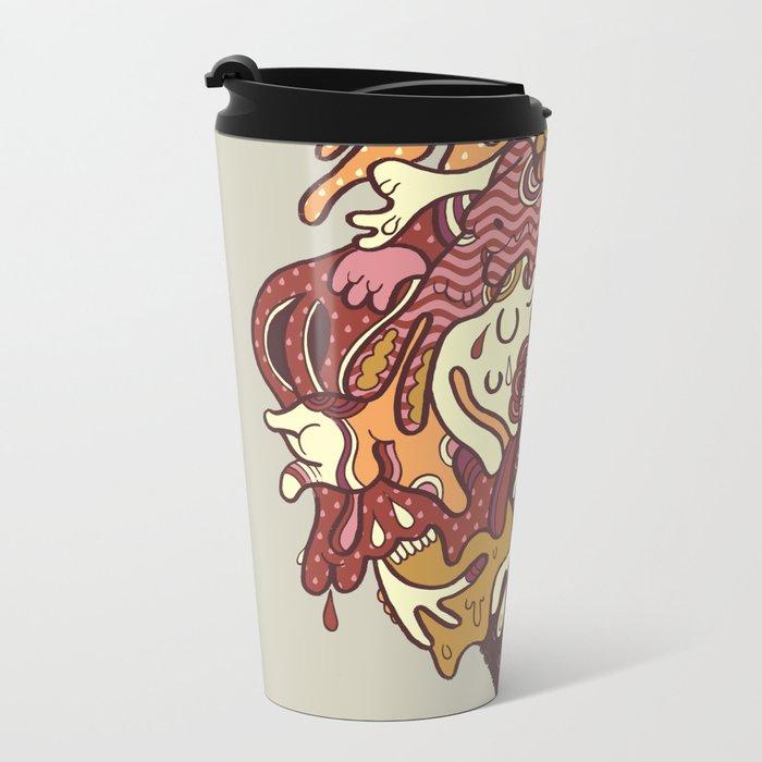 Painted Trojan Metal Travel Mug