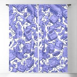 Retro Gamer - Blue Blackout Curtain