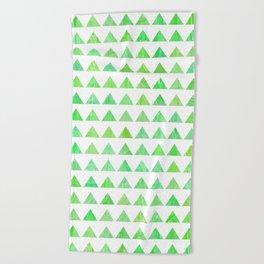evergreen geometric pattern Beach Towel