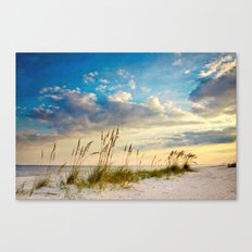 Sea Oats Beach Sunset Canvas Print