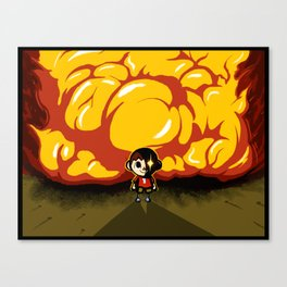 Don't mess with my town. Canvas Print