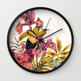 Tropical Garden Tucan Wall Clock