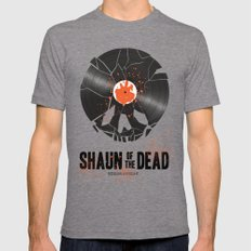 Shaun of the dead Tri-Grey Mens Fitted Tee MEDIUM