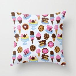 Dessert Pattern Throw Pillow