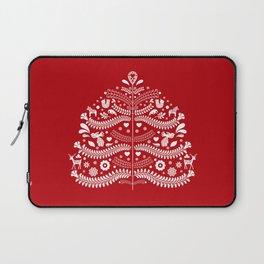 Scandinavian Folk Art Christmas Tree Laptop Sleeve