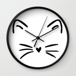 Cute Cat  Kitty Kitten Wall Clock