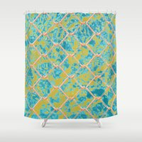 pool Shower Curtains featuring Pool by JDRicker