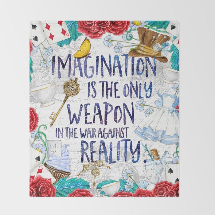 Alice in Wonderland - Imagination Throw Blanket