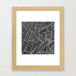 InterLines B Framed Art Print