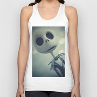 nightmare before christmas Tank Tops featuring Mr. Jack (Nightmare Before Christmas) by LT-Arts