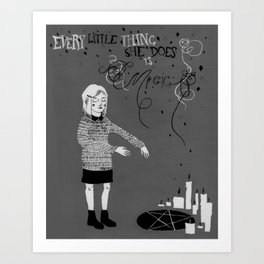 Every Little Thing She Does in black & white Art Print