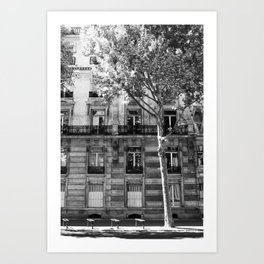 Paris Being Classy Art Print