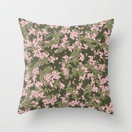 Origami Unicorn Camo PINK Throw Pillow