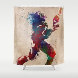 American football player 2 Shower Curtain