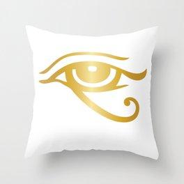 Eye of Ra classic Ancient Egypt design Throw Pillow