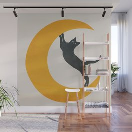 Moon and Cat Wall Mural