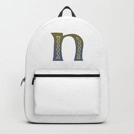 Celtic Knotwork Alphabet - Letter N Backpack