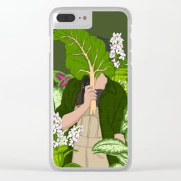 Loving Garden Clear iPhone Case