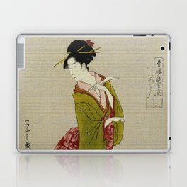 Itsutomi - Vintage Japanese Woodblock Laptop & iPad Skin