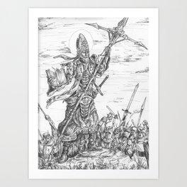 Battle Bishop Art Print