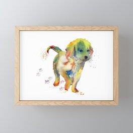 Colorful Puppy - Little Friend Framed Mini Art Print