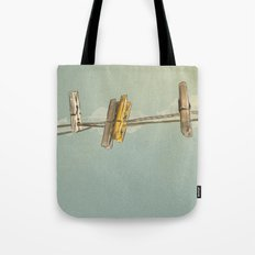 Vintage Clothespin Tote Bag