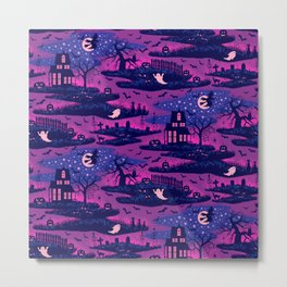 Halloween Night - Mystic Violet  Metal Print