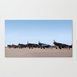 WW2 Warbirds Line-up, Sonoma County Airport, California Canvas Print