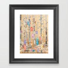 Cute Monsters Framed Art Print