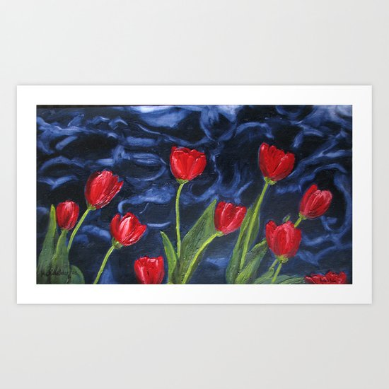 Tulips are red... Art Print