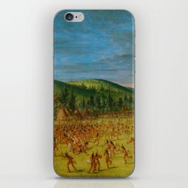 George Catlin - Ball-play of the Choctaw iPhone Skin