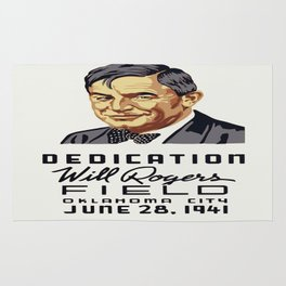 Vintage poster - Will Rogers Field Rug