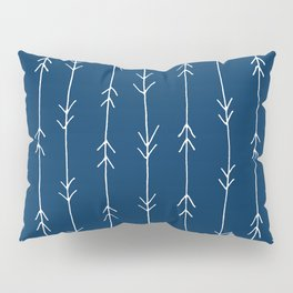 Arrow Pattern: Navy Blue Pillow Sham