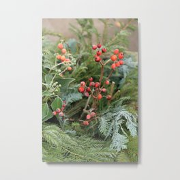Winter decoration in Rothenburg Metal Print
