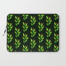Abstract Watercolor Green Plant With Orange Berries Laptop Sleeve