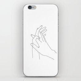 Minimalist hands illustration - Winona iPhone Skin