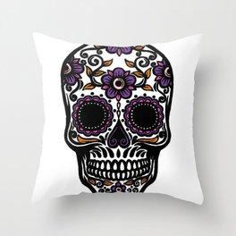 Sugar Skull 5 Throw Pillow