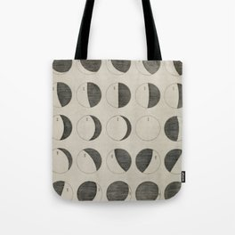 Antique Moon Phases Chart Tote Bag