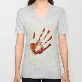 Castiel's handprint Unisex V-Neck