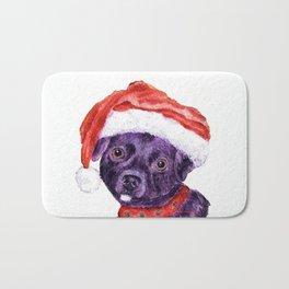 Christmas Chihuahua By Annie Zeno Bath Mat