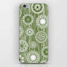 mandala cirque spot green white iPhone & iPod Skin