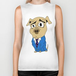 Worried Dog Biker Tank