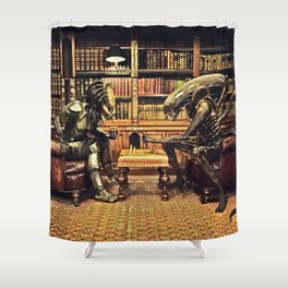 Alien V Predator Shower Curtain
