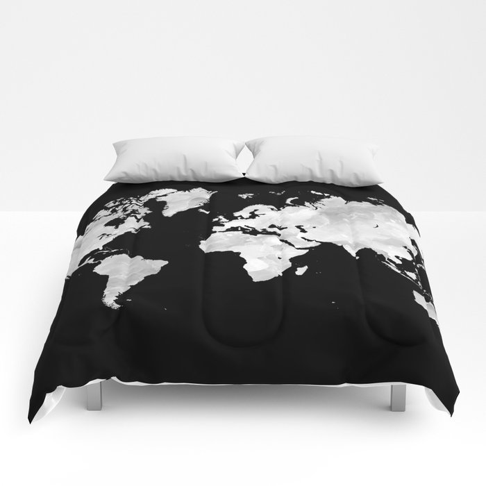 Design 70 world map comforters by artbylucie society6 design 70 world map comforters gumiabroncs Image collections