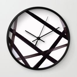 pylon, industrial, minimal, lines, ink Wall Clock
