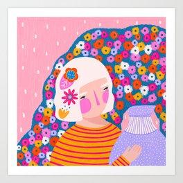 Flower carrier Art Print