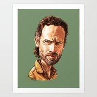 """rick grimes Art Prints featuring Rick Grimes by Patrick Fodéré  """"Doud"""""""
