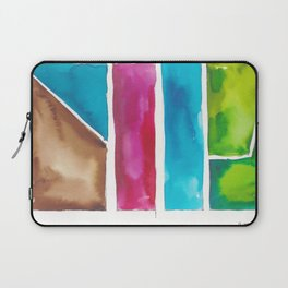 180811 Watercolor Block Swatches 6| Colorful Abstract |Geometrical Art Laptop Sleeve