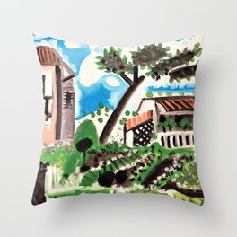 Pablo Picasso - Landscape of Vallauris - Digital Remastered Edition Throw Pillow