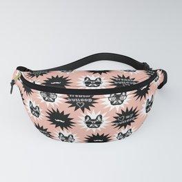 Pink Frenchie, french bulldog pattern, dog pattern, pet, animals Fanny Pack